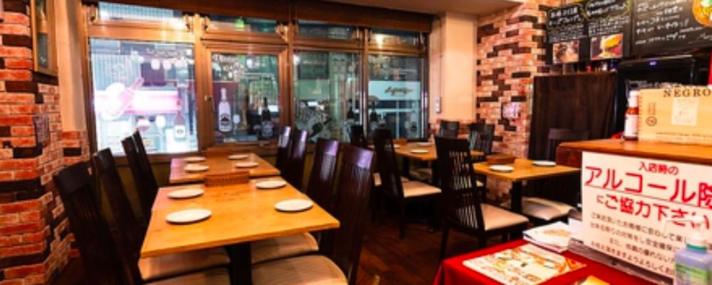 テーブル席1は円卓にすることも可能です。
