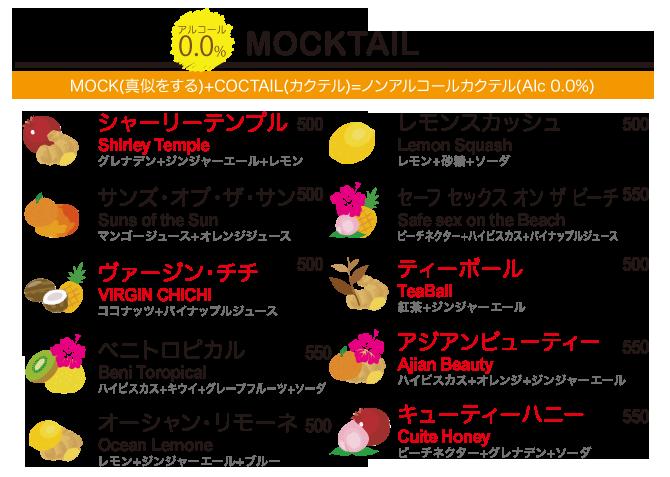 MOCKTAIL ノンアルコール カクテル
